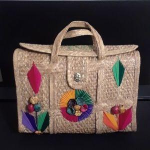 """BEAUTIFUL VNTG Mexican """"Bolsa de playa"""" Beach Bag"""